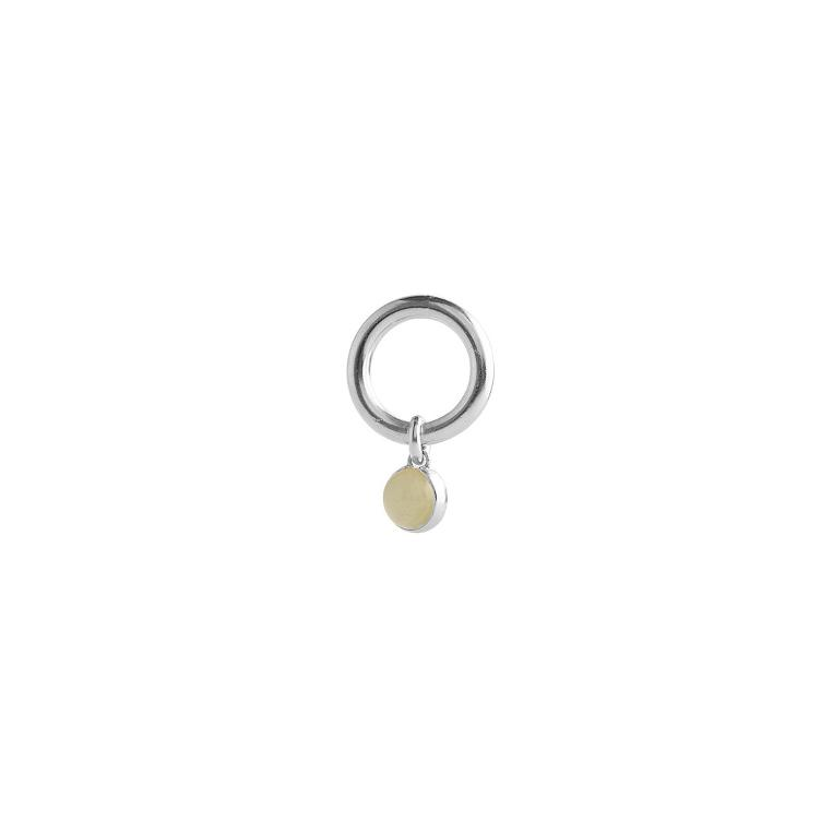 Bold Drop Ring Jade Silver - 1