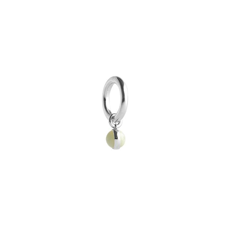 Bold Drop Ring Jade Silver - 0