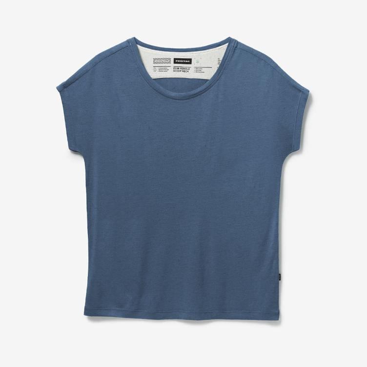 FEMALE SCOOP NECK TEAL E330-34