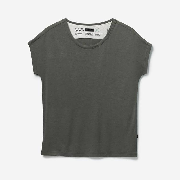 FEMALE SCOOP NECK DUSTY OLIVE E330-66
