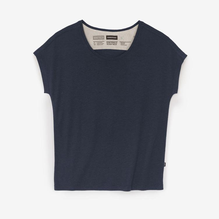 FEMALE SCOOP NECK SHADED BLUE E330-67
