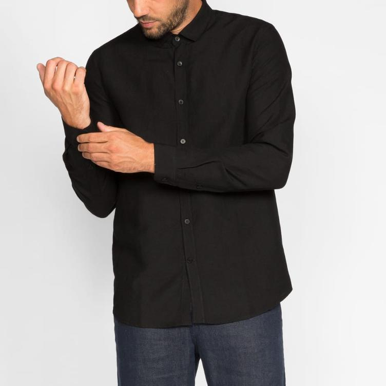 MALE SHIRT BLACK E783-07