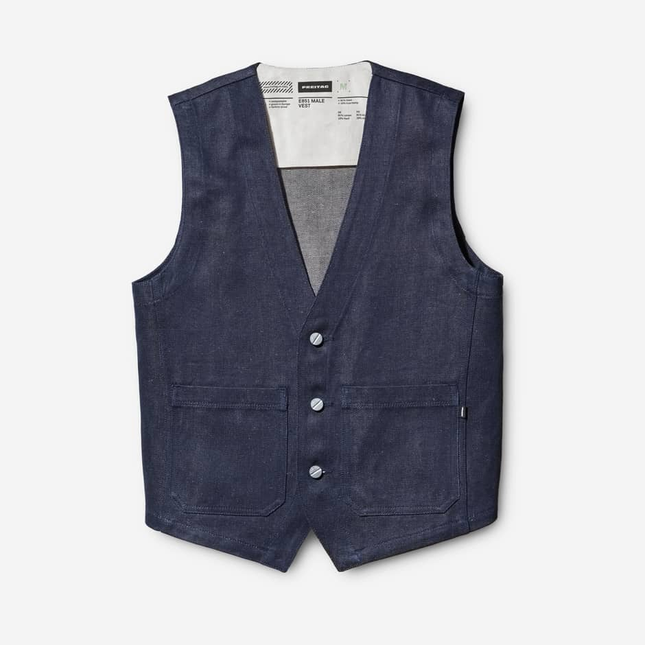 MALE VEST BLUE DARK BLUE E851-18