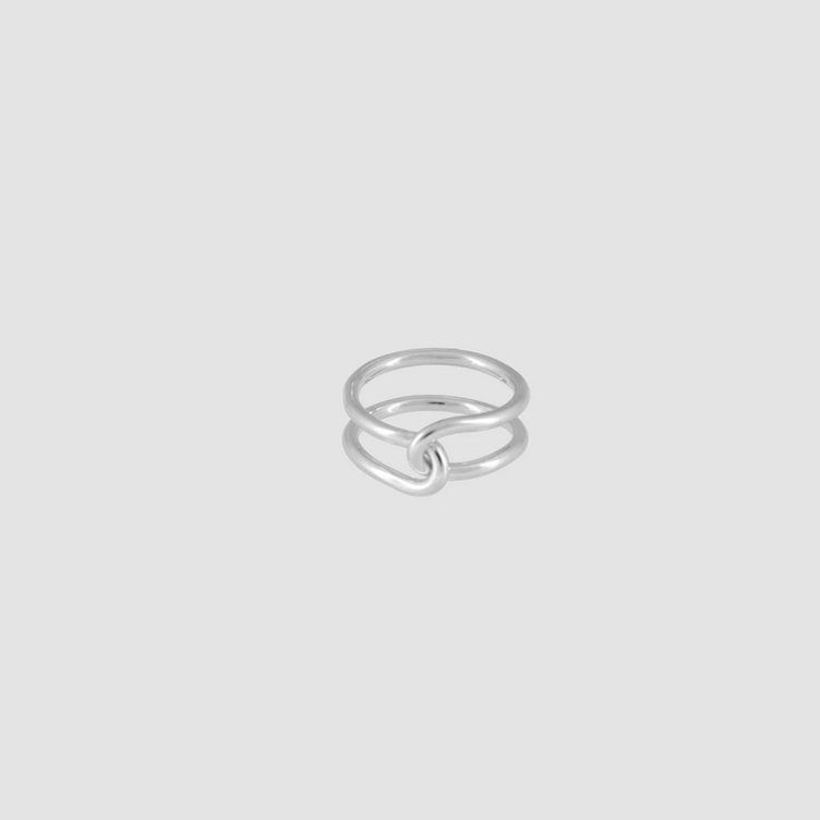 Loop Ring Thick Silber