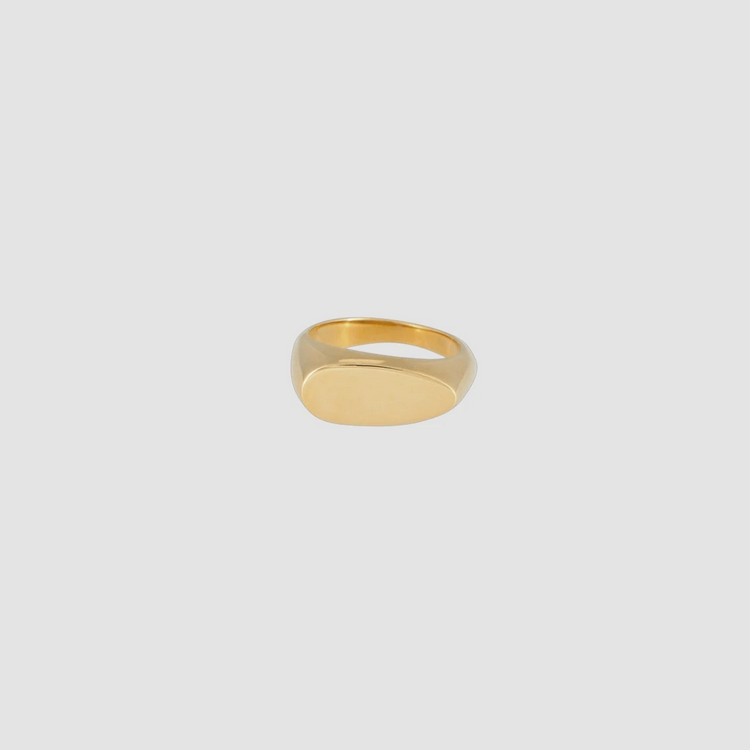 Signet Ring Oval Gold