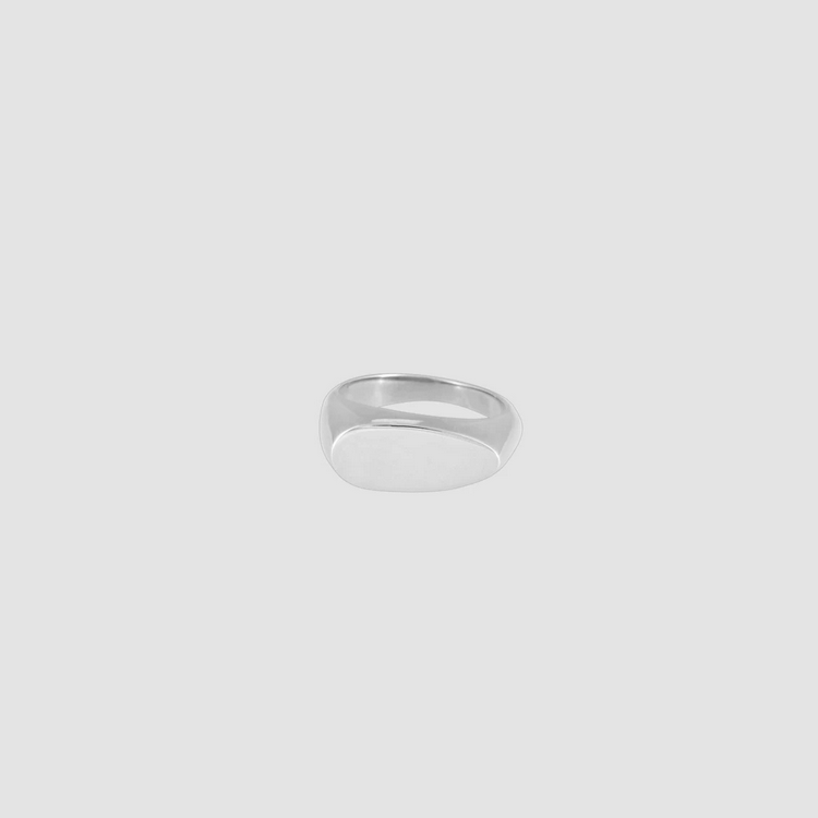 Signet Ring Oval Silver