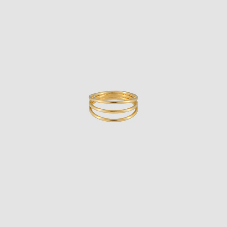 Simple Ring Triple Gold